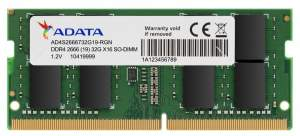 Adata Pamięć SO-DIMM DDR4 2666 8GB CL19 SingleTray [OUTLET]