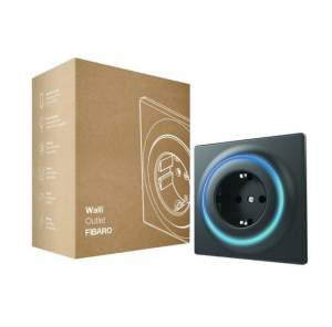 FIBARO Walli Outlet Single type F - antracyt