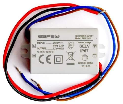 Zasilacz Espe Lpa0612cv 12v 6w 05a Do Oświetlenia Led Gw 36m Cy